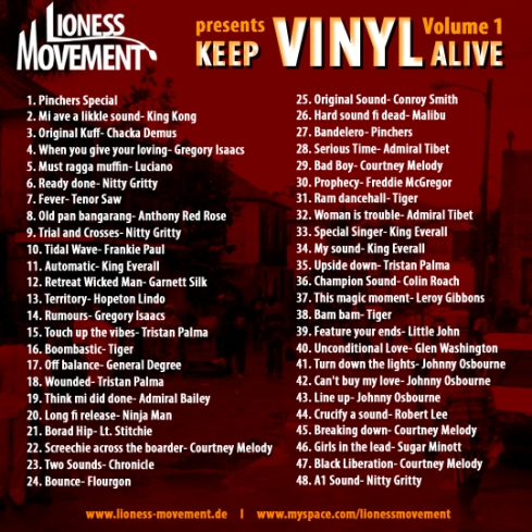 Keep Vinyl Alive Vol 1. Cover Back