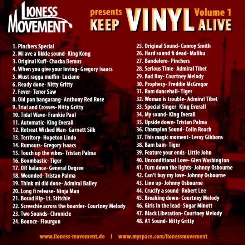 Keep Vinyl Alive Vol 1. Cover Back